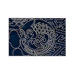 Sashiko-style Embroidery Rectangle Magnet (10 pack