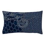 Sashiko-style Embroidery Pillow Case