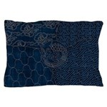 Sashiko-style Embroidery Pillow Case