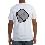 My Wife is an Airman dog tag Fitted T-Shirt