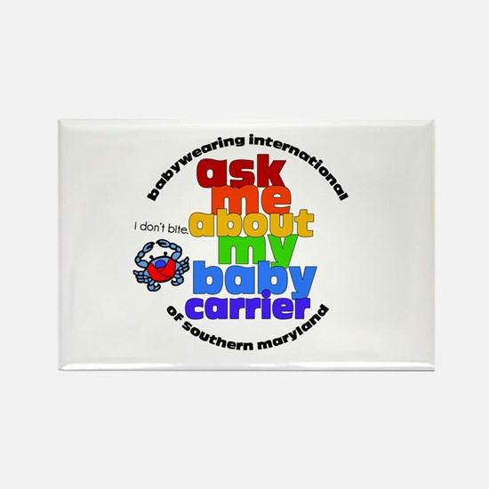 ask me about my baby carrier Rectangle Magnet (10