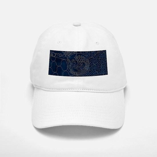 Sashiko-style Embroidery Baseball Baseball Cap