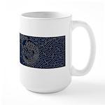 Sashiko-style Embroidery Large Mug