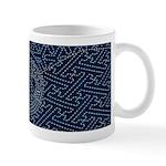 Sashiko-style Embroidery Mug