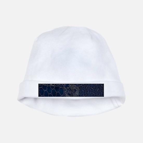 Sashiko-style Embroidery baby hat