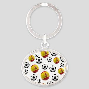 Spain Soccer Balls Keychains