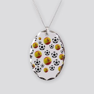 Spain Soccer Balls Necklace