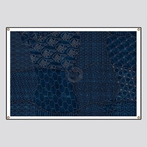 Sashiko-style Embroidery Banner