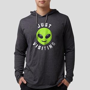 Just Visiting Alien Emoji Mens Hooded Shirt