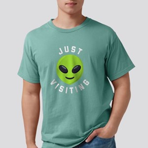 Just Visiting Alien Emoj Mens Comfort Colors Shirt