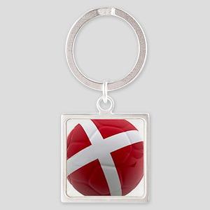 Denmark world cup ball Keychains