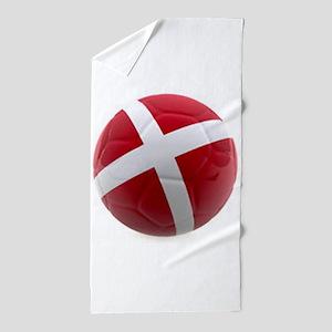 Denmark world cup ball Beach Towel