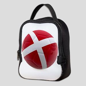 Denmark world cup ball Neoprene Lunch Bag