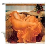 Flaming June-Full Size Shower Curtain