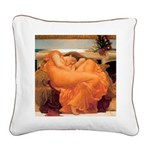 Flaming June-Full Size Square Canvas Pillow