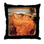 Flaming June-Full Size Throw Pillow