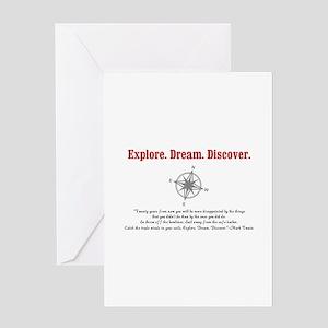 Explore. Dream. Discover. Greeting Card
