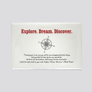 Explore. Dream. Discover. Rectangle Magnet