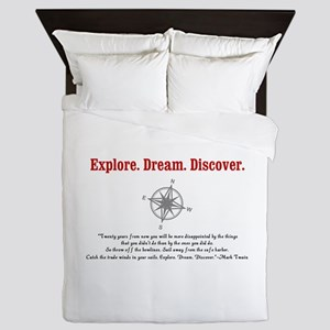 Explore. Dream. Discover. Queen Duvet