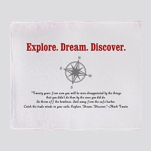 Explore. Dream. Discover. Throw Blanket