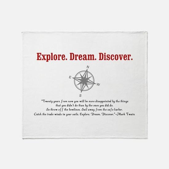 Explore. Dream. Discover. Throw Blanket