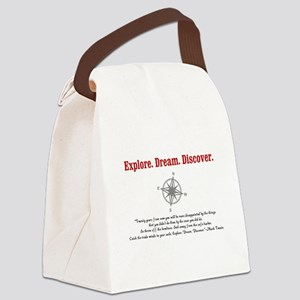 Explore. Dream. Discover. Canvas Lunch Bag