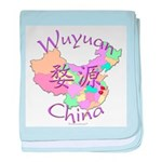 Wuyuan China Map baby blanket