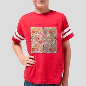 Cute Cartoon Sushi Pattern Pi Youth Football Shirt