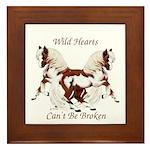Wild Hearts Pintos Framed Tile