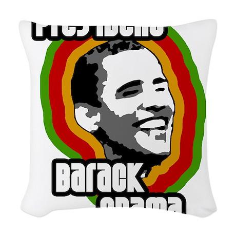 presbarackobama-solo Woven Throw Pillow