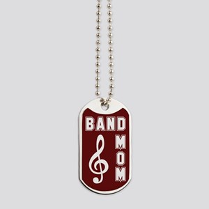 Band Mom Maroon Dog Tags
