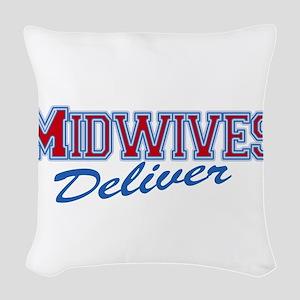 Midwife or Doula Woven Throw Pillow