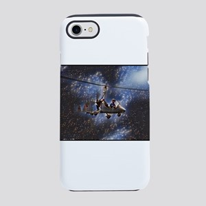 Gyrocopter in Space iPhone 7 Tough Case