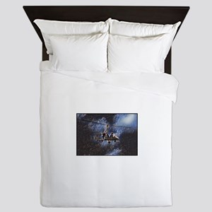 Gyrocopter in Space Queen Duvet