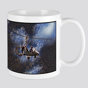 Gyrocopter in Space Mugs