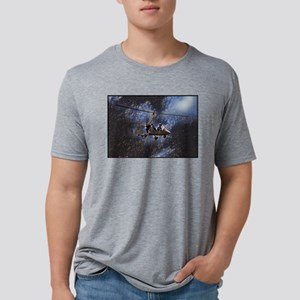 Gyrocopter in Space Mens Tri-blend T-Shirt