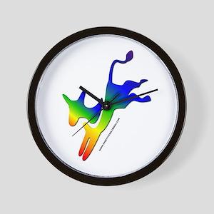 Democrat Donkey Rainbow Skewed Wall Clock