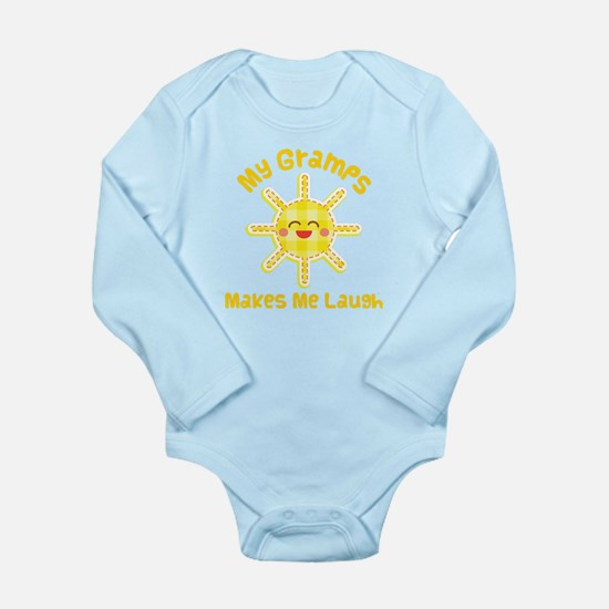 My Gramps Makes Me Laugh Long Sleeve Infant Bodysu