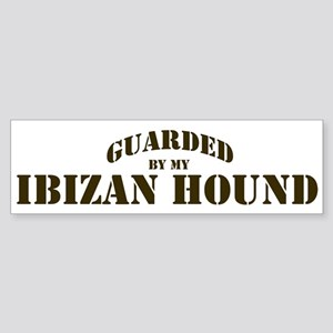 Ibizan Hound: Guarded by Bumper Sticker
