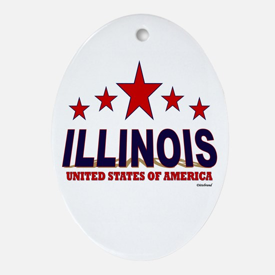 Illinois U.S.A. Ornament (Oval)