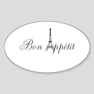 Bon Appetit Paris French Eiffel Tower Sticker