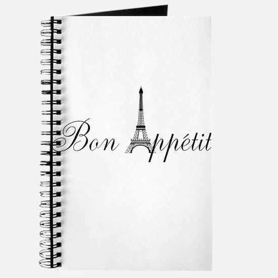 Bon Appetit Paris French Eiffel Tower Journal