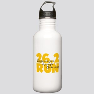 26.2 Run Yellow Stainless Water Bottle 1.0L