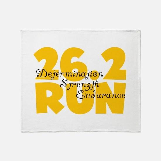 26.2 Run Yellow Throw Blanket