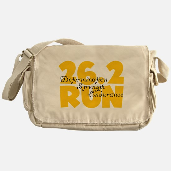 26.2 Run Yellow Messenger Bag