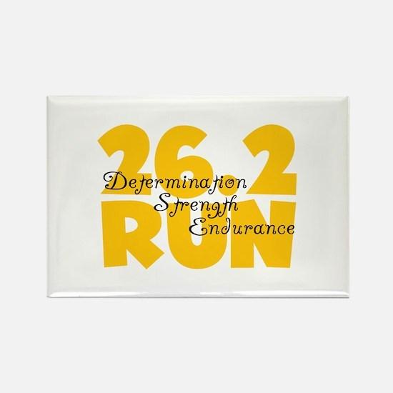 26.2 Run Yellow Rectangle Magnet