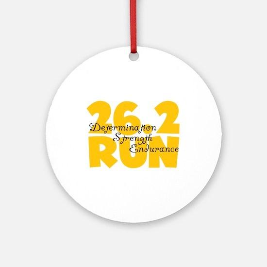 26.2 Run Yellow Ornament (Round)