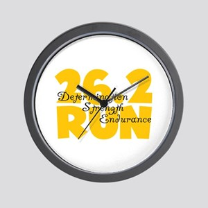 26.2 Run Yellow Wall Clock