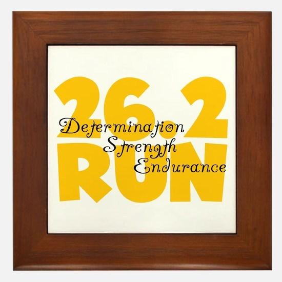 26.2 Run Yellow Framed Tile