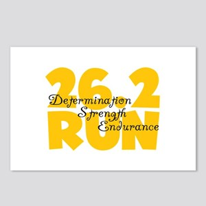 26.2 Run Yellow Postcards (Package of 8)